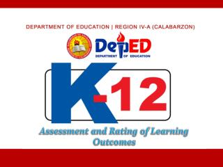 Assessment and Rating of Learning Outcomes