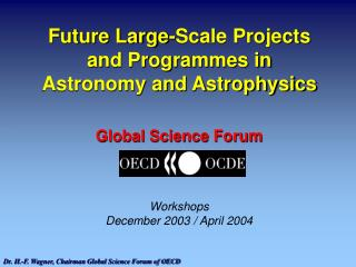 Future Large-Scale Projects and Programmes in Astronomy and Astrophysics