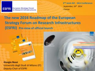 Strategy Report  on  Research Infrastructures Roadmap 2010