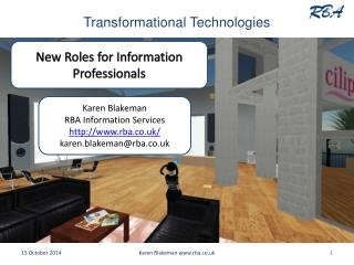 Transformational Technologies