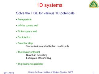 1D systems