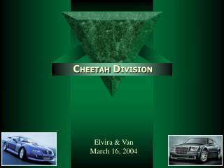 C HEETAH D IVISION