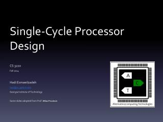 Single-Cycle Processor Design