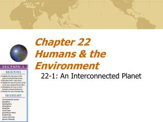 Chapter 22 Humans & the Environment