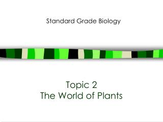 Topic 2 The World of Plants
