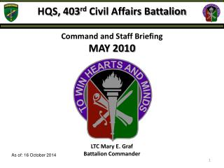 HQS, 403 rd  Civil Affairs Battalion