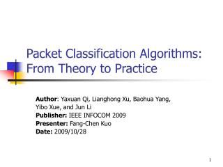 Packet Classification Algorithms: From Theory to Practice