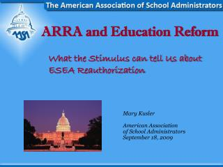 ARRA and Education Reform