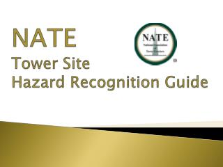 NATE Tower  Site Hazard Recognition Guide