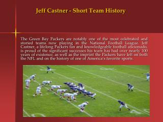 Jeff Castner - Short Team History