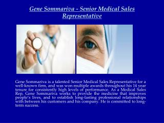 Gene Sommariva - Senior Medical Sales Representative