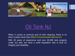 Oil Tank NJ