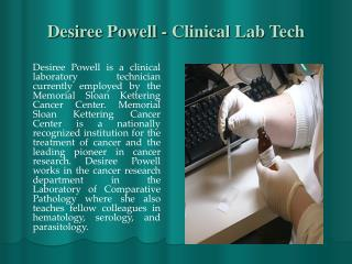 Desiree Powell - Clinical Lab Tech