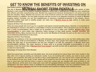 Get To Know The Benefits Of Investing On Mumbai Short Term R