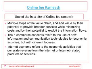 Select the best option of online fee rameesh