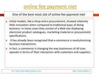 Choose New Options to submitted Your online fee payment niet