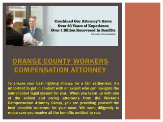 Workers Compensation Attorney Orange County