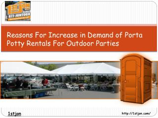 Reasons For Increase in Demand of Porta Potty Rentals For Ou