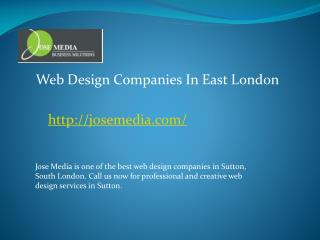 web design companies in east london