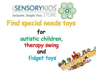 Special Needs Toys for Autistic Children, Therapy Swing and