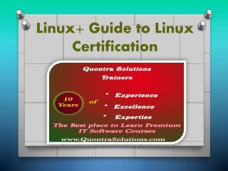 Guidance to the Certification of Linux - PPT