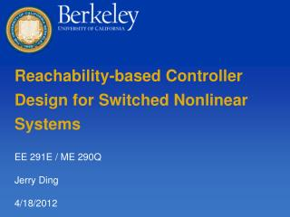 Reachability-based Controller Design for Switched Nonlinear Systems