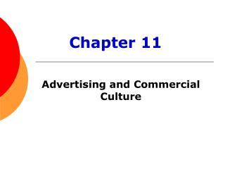 Advertising and Commercial Culture