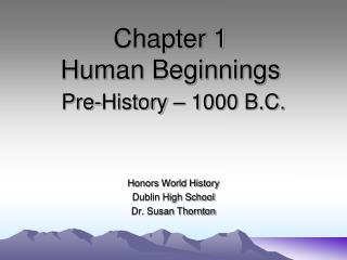 Chapter 1   Human Beginnings
