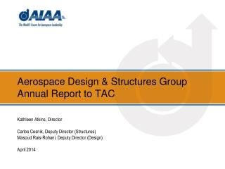 Aerospace Design & Structures Group  Annual Report to TAC