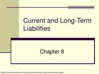 Current and Long-Term Liabilities