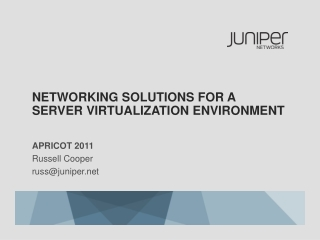 Networking Solutions for A Server Virtualization Environment