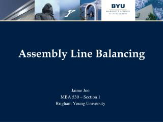 Assembly Line Balancing