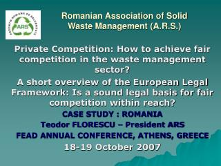 Romanian Association of Solid Waste Management (A.R.S.)