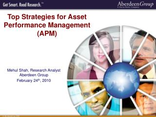 Top Strategies for Asset Performance Management (APM)