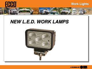 NEW L.E.D. WORK LAMPS