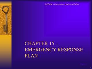 CHAPTER 15 – EMERGENCY RESPONSE PLAN