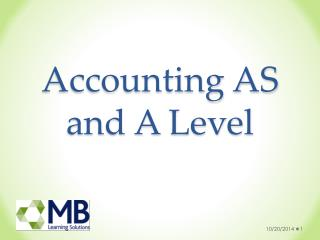 Accounting AS and A Level