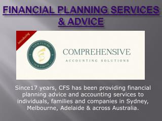 Financial Planning Services & Advice