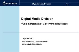 "Digital Media Division ""Commercializing"" Government Business"