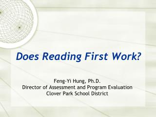 Does Reading First Work?