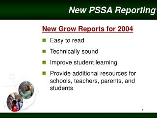 New PSSA Reporting