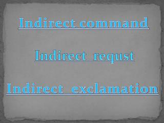 Indirect command