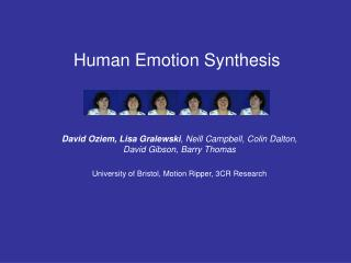 Human Emotion Synthesis