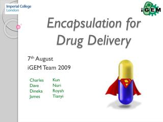 Encapsulation for   Drug Delivery