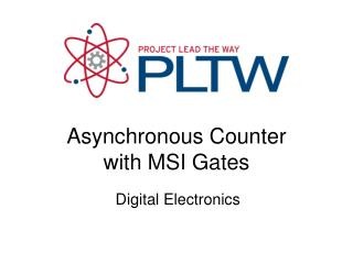 Asynchronous Counter with MSI Gates