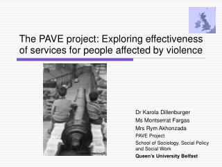 The PAVE project: Exploring effectiveness of services for people affected by violence