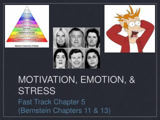 MOTIVATION, EMOTION, & STRESS