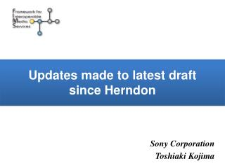 Updates made to latest draft  since Herndon