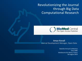 Revolutionizing  the Journal through Big Data Computational Research