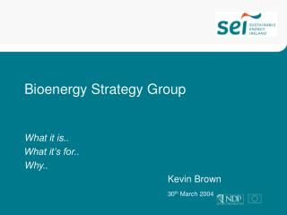 Bioenergy Strategy Group